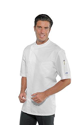 Isacco Giacca Cuoco Modello Yokohama Bianco, Bianco, M, 100% Poliestere Superdry, Mezza Manica