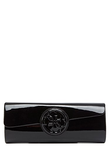 Guess Damen Amy Shine Clutch, schwarz