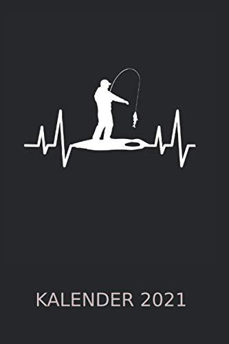 Eisfischen Eisangeln Herz Kalender 2021: Angel Angelteich Angelgewässer Alkohol | Kalender 2021