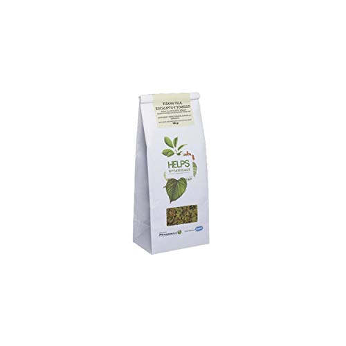 HELPS INFUSIONS - Infusion de citron vert, d'eucalyptus et de thym en vrac. Tisane pour lutter contre la toux et le rhume. Sac en vrac de 100 grammes.