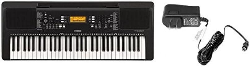 Yamaha Portable Keyboard PSR-E363 with Yamaha PA130 AC Power Adapter, Black