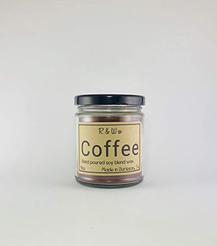 R&W Co. Coffee 9oz Candle Made in USA