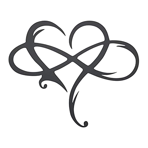 Fullnoon Infinity Heart Metal Wall Art Decor, Metal Wall Art Love Wall Sign, Metal Wall Sculpture Cute Wall Decor Art for Living Room Decorations Home Wedding Decor