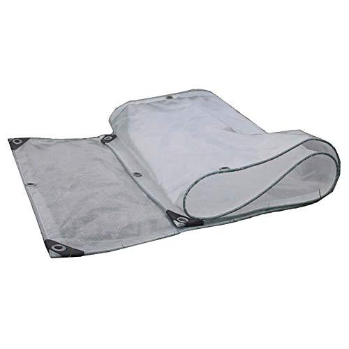 LIANGJUN Bâche De Protection Double Couche Anti-Pluie Tissu Plus Épais Solarium Balcon Fenêtre Coupe-Vent Tissu Imperméable,22 Tailles (Couleur : Clair, Taille : 4.8x4.8m)
