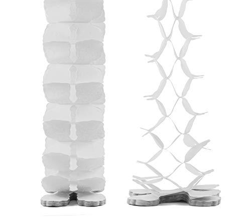 Creativery Papier Girlande 6 Meter (weiß 029) // Papiergirlande Hängedeko Raumdeko Party Geburtstag Raumdekoration Deko