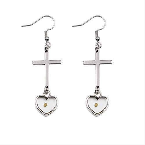 Stainless Steel Cross Drop Earrings Faith As Small As A Mustard Seed Earrings Christian Jewelry For Women Gifts