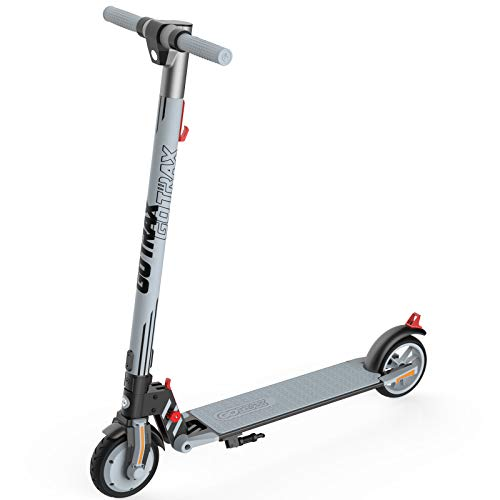 "GOTRAX Vibe Electric Kick Scooter, 6.5"" Foldable Commuting Scooter for Kids 8-15, 12 MPH & 7 Miles Range E Kick Scooters for Kids, Teens, Boys and Girls (Gray)"