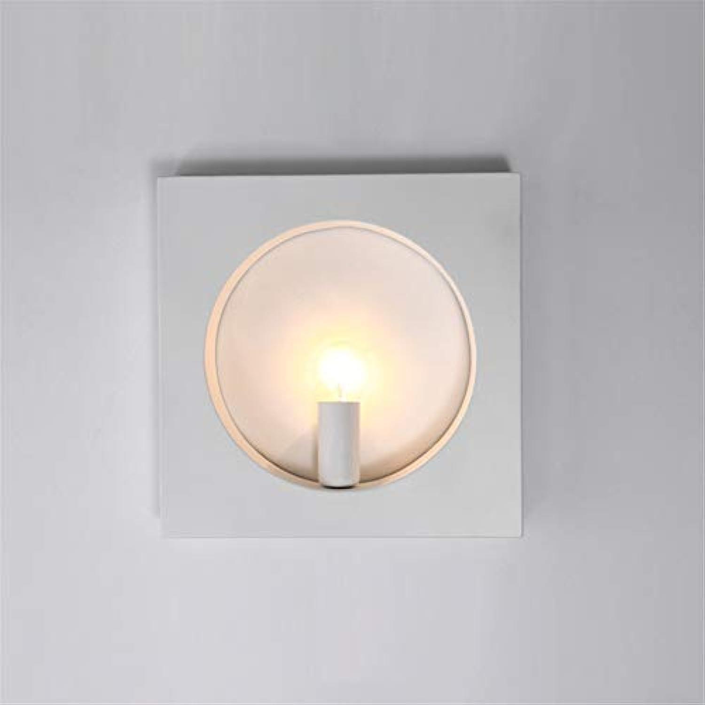 LANGNY Eisen LED, quadratisch wei Wandleuchte modern Stil Wandlampe Nachtlicht für Bar Schlafzimmer Küche Restaurant Café Flur Babyzimmer