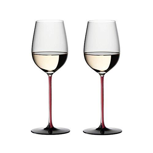 Riedel Sommeliers r-black serie con plomo cristal Riesling Grand Cru Copa de vino, juego de 2