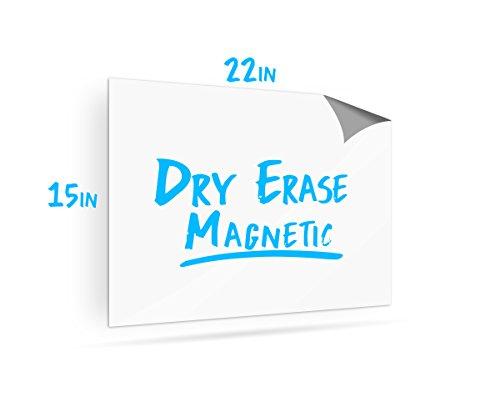 Cancellabile lavagna magnetica con calamita per frigorifero–vuoto per frigorifero 55,9x 38,1cm cancellabile a secco, foglio magnetico flessibile–Lavagna magnetica -