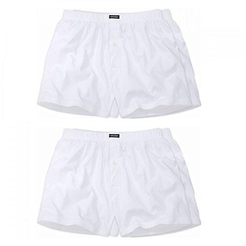 Ceceba 4 er Pack Jersey Boxershorts Pant Unterhosen Herren weiß Größen L - 8XL, Grösse:7XL - 16-66;Farbe:Weiss