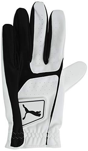 Puma Golf 2018 Men's Flexlite Golf Glove (Bright White-Puma Black, Medium, Cadet Left Hand)