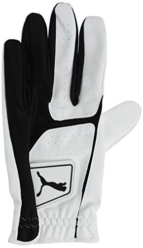 Puma Golf 2018 Men's Flexlite Golf Glove (Bright White-Puma Black, Large, Left Hand)