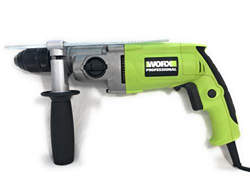 Worx WU303.1 Schlagbohrmaschine, 800 W, 13 mm, Auto-Lock-Bohrfutter, 2 Geschwindigkeiten
