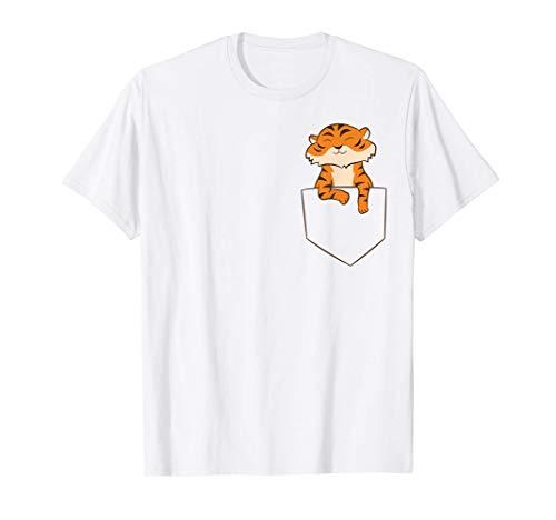 Los niños de Tiger In Pocket aman al León Tigre Tiger Camiseta