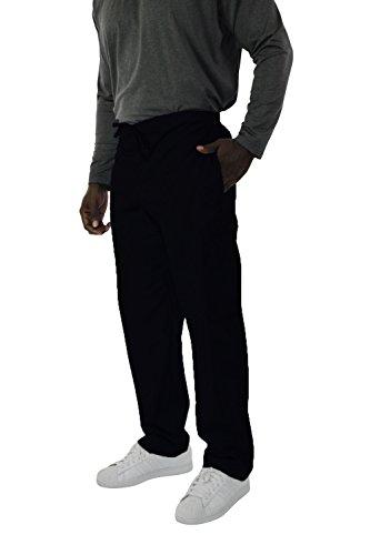 Spectrum Scrub Pants with Drawstring, Elastic Waist for Men - 3X - Black