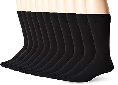Dockers Men's 5-Pack Classics Dress Flat Knit Crew Socks