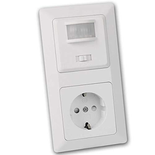 MILOS Kombination Steckdose mit Bewegungsmelder, LED geeignet, Unterputz, 230V