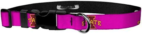 Moose Pet Wear Iowa State Logo on Pink Wear Adjustable Collar