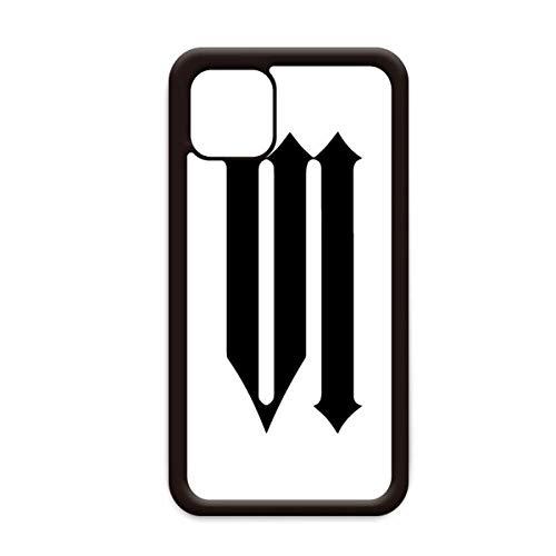 Romeinse cijfers Zes In Zwart silhouet voor Apple iPhone 11 Pro Max Cover Apple Mobiele Telefoonhoesje Shell, for iPhone11