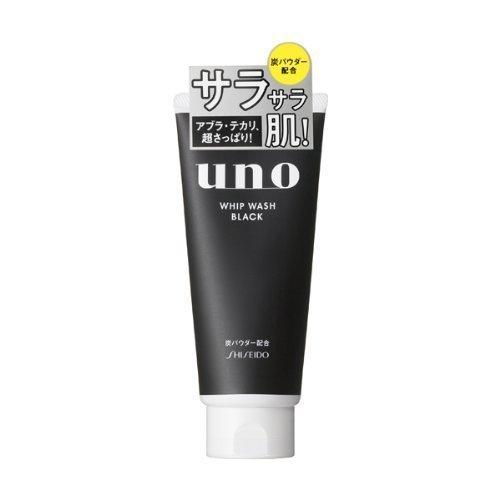 Shiseido Uno Mens Whip Face Wash 130g - Black