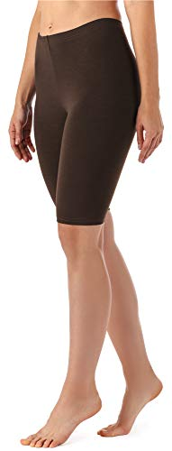 Merry Style Damen Kurze Leggings aus Viskose MS10-145 (Braun, XXL)