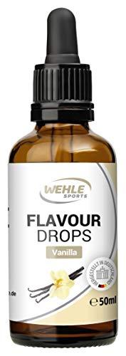 Flavdrops Geschmackstropfen ohne Kalorien - Flavor Drops für Quark, Jogurt, Porridge uvm - Aromatropfen zum Süßen - Wehle Sports 50ml (Vanille)