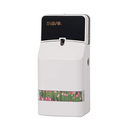 SVAVO Automatic Air Freshener Spray Dispenser, Commercial Air Refresher Spray Holder Wall Mount/Free Standing, Fragrance Aerosol Dispenser for Home Air Freshener Refill Can, Room, Bathroom, ABS