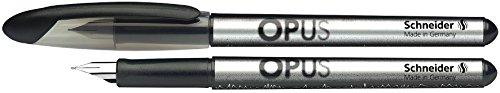 Schneider–Penna stilografica Opus, M, colori assortiti, confezione da 2cartucce