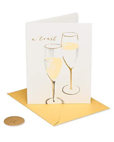 Papyrus Cartão de casamento para casal (torrada champanhe)