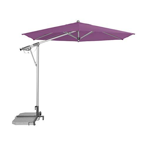 """Doppler Pendelschirm AX Alu-Pendelschirm 290cm """"Made in Europe"""" – 6-teilig – Sonnenschirm für Balkon, Garten – Neigbar – Wasserdicht – 290 cm – Flieder"""