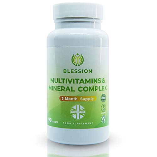 Blession Multivitamins & Mineral Complex - 3 Months Supply - 90 Vegan Tablets for Men and Women