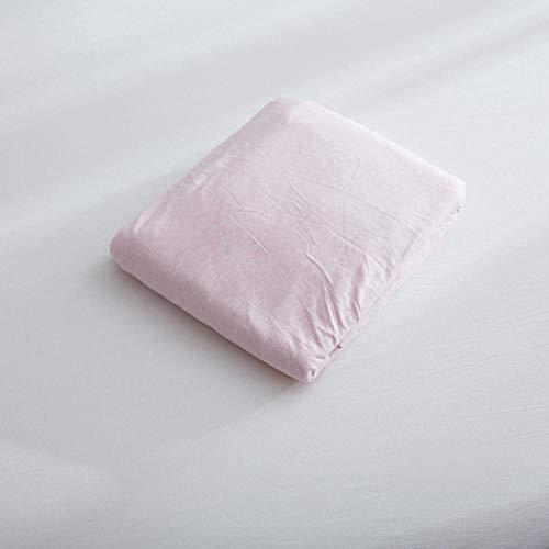 LCFCYY Bedding Sábana Bajera Ajustable,Sábanas de algodón Suaves y cómodas,Protector de colchón para niños,niñas,Dormitorio,habitación en casa de Familia,Rosa 2 180 * 200cm
