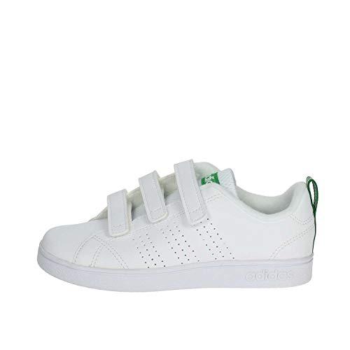 adidas Vs Advantage Clean Cmf, Scarpe da Fitness Unisex-Bambini, Bianco (Ftwwht/Ftwwht/Green Ftwwht/Ftwwht/Green), 35 EU