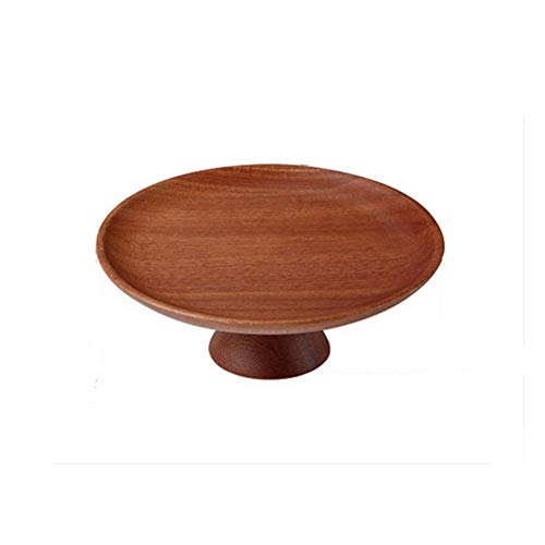 DAGONGREN Ebony Wood Natural Wooden Dishes Snack Fruit Dishes Dessert Plate Serving Tray Tea Saucer Cake Stand