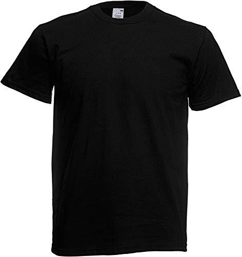 Fruit of the Loom - Camiseta Básica de Manga Corta de Calidad diseño Original Hombre Caballero (Extra Grande (XL)) (Negro)