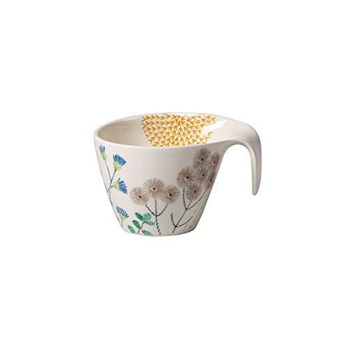 Villeroy & Boch Flow Couture Tasse, 380 ml, Premium Porzellan, Weiß/Bunt