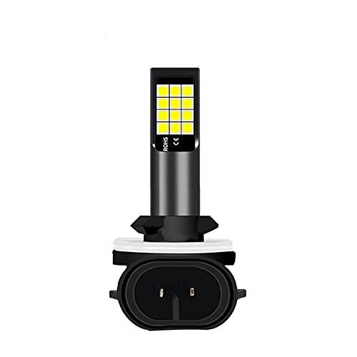 Wcnsxs 2 udsH11 H8 9006 HB4 881 H27 Bombillas LED 3030, lámpara antiniebla Delantera automática, Faros antiniebla para Coche, Faros antiniebla 6000 K, superblanco 12V