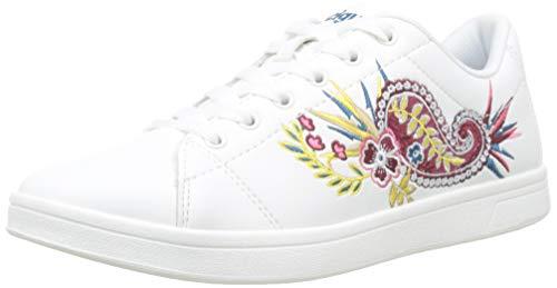 Desigual Tenis Ethnic, Zapatillas para Mujer, Blanco (White 1000), 40 EU