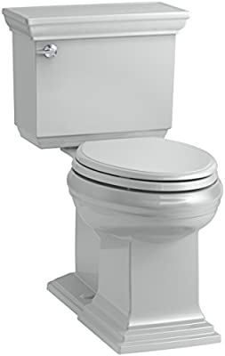 KOHLER K-6669-95 Memoirs Stately Comfort Height Toilet, 1.28 GPF, Ice Grey