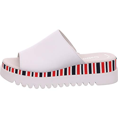 Gabor Shoes Gabor Casual, Mules para Mujer, Blanco (Weiss (Marine/Pink) 20), 44 EU