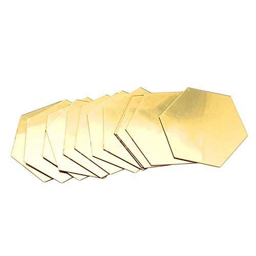 RNICE Pegatinas de pared con espejo, 3D hexagonal, vinilo extraíble para pared, decoración del hogar, 12 unidades