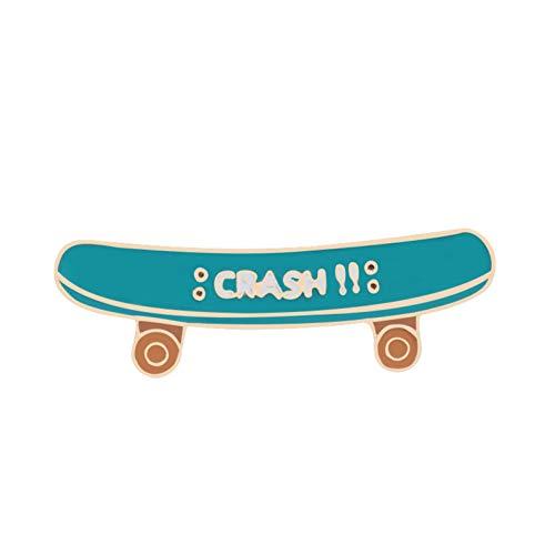 FSAKLFS Trendy Teenager Ziele Muti Skill Roller-Skateboard Schuhe Goldmedaille Coole Broschen Junge Taschen Mantel Denim Badges