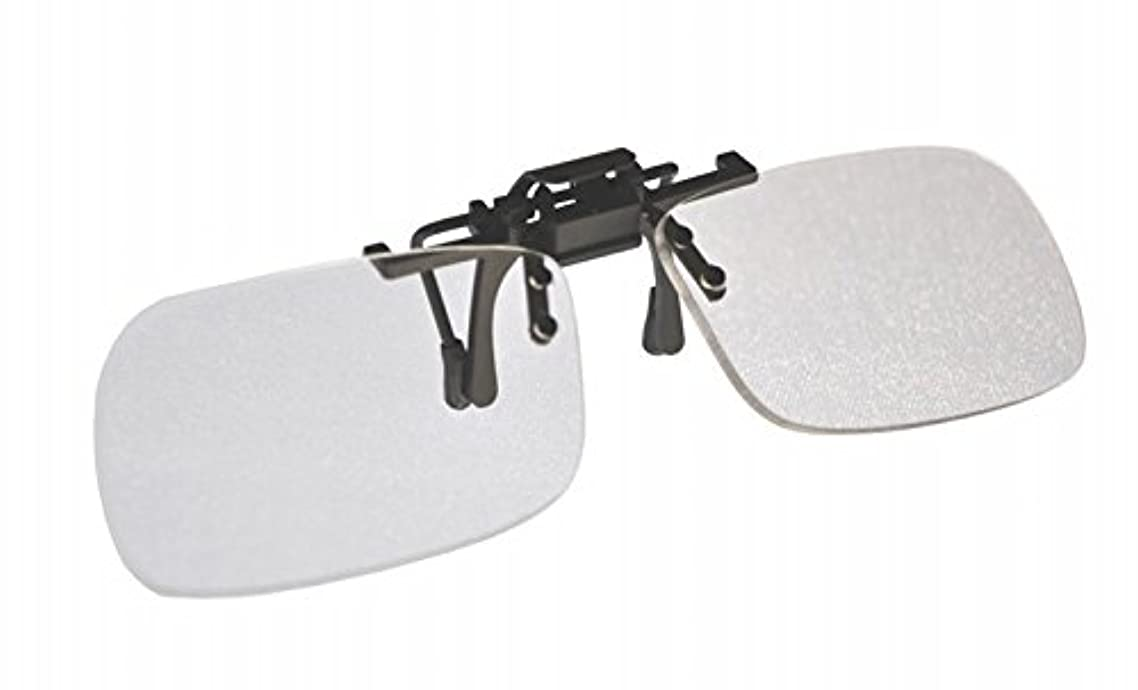 Small Clear Clip-on Flip-up Magnifying Reading Glasses +2.00 Diopter