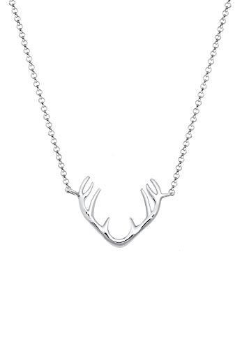 Elli Halskette Damen Rentier Geweih Anhänger in 925 Sterling Silber