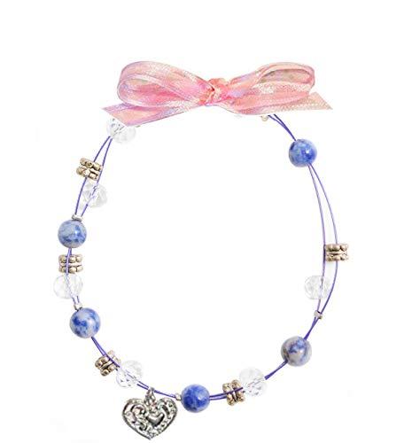 Prachtige blauwe Sodalite beste vriend armband met handgemaakte tinnen bedel, door William Sturt