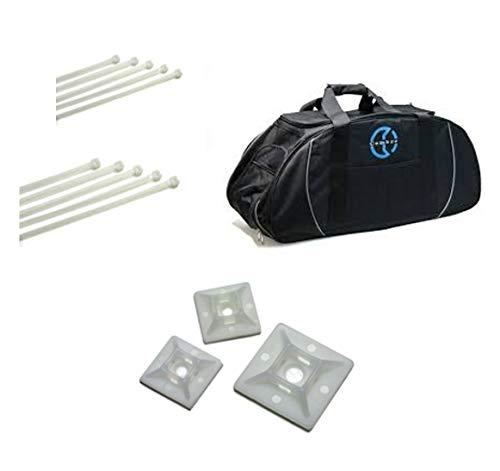 Cembre Kit Promo Fascette/SBC1 sporttas van stof met handgrepen, draagriem en zijvakken + 3000 kabelbinders G100x2.5 + 3000 G160x2.5 + 2000 G200x3.6 + 2000 G300x3.6 + 2000 G300x4.8 + 500 AB19