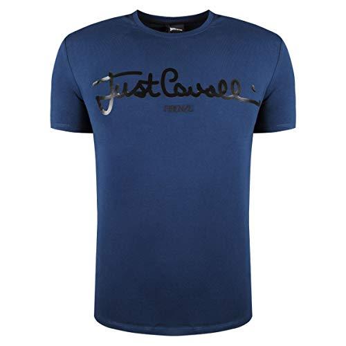 Just Cavalli Camiseta Manga Corta Azul Oscuro S