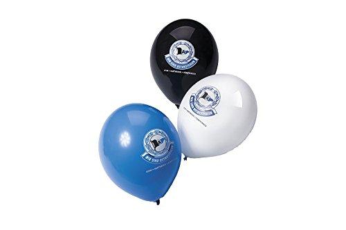 DSC Arminia Bielefeld Luftballons WSO 12 Stk in schwarz-weiß-blau