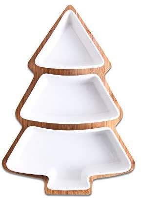 LLT 28 cm Conjunto Completo de Cerámica Bambú Árbol de Navidad Bandeja...